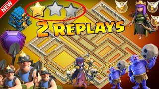 NEW TH12 WAR BASE 2018 Anti 2 Star With 2 Replays Anti BoWitch,Miner,Seige Machine,Queen Walk,Hog