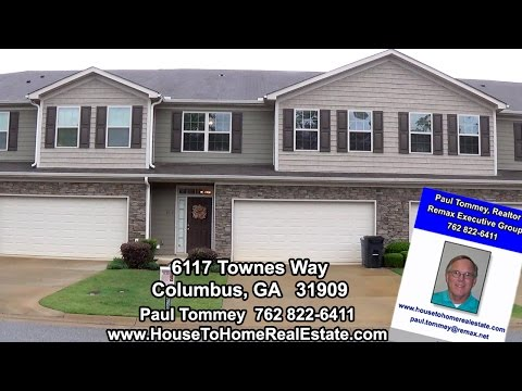6117 Townes Way,  Columbus GA Town House For Rent  $1495 Per Month Or $186,900