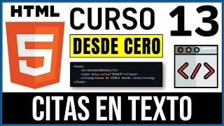 CURSO De HTML - 13. Citas en Textos en HTML | UskoKruM2010