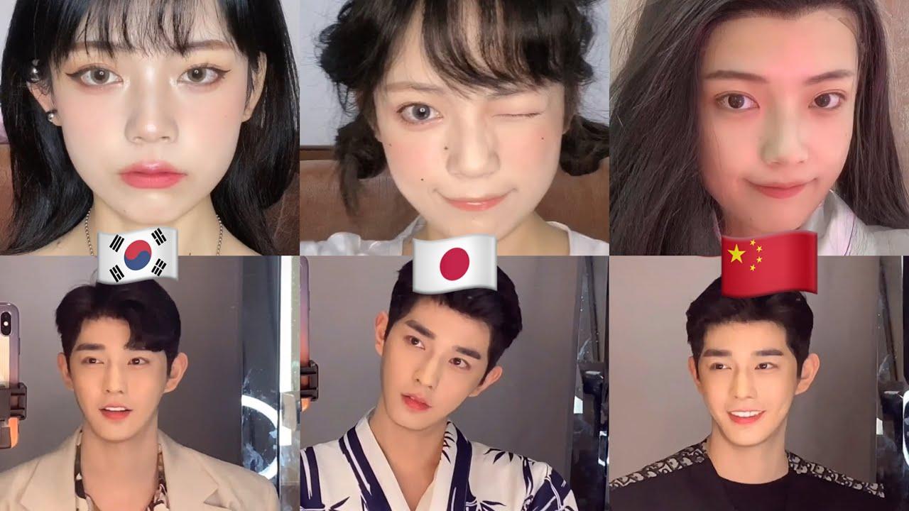 KOREAN JAPANESE CHINESE MAKEUP CHALLENGE | CHINESE TIKTOK VIDEOS | DOUYIN