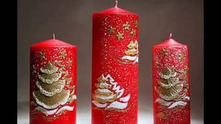 Новогодние свечи своими руками. Новогодние свечи 2017.