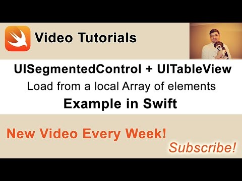 UISegmentedControl with UITableView example in Swift  Part 1