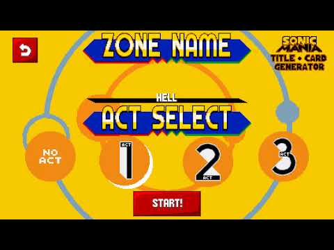 Sonic Mania: Title Card Generator (Version 1 1) - Full Gameplay