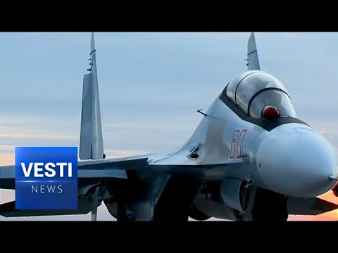 One Hundred SU-30 Futuristic Fighter Jets Fly From Plant in Siberia to Air Base in Europe
