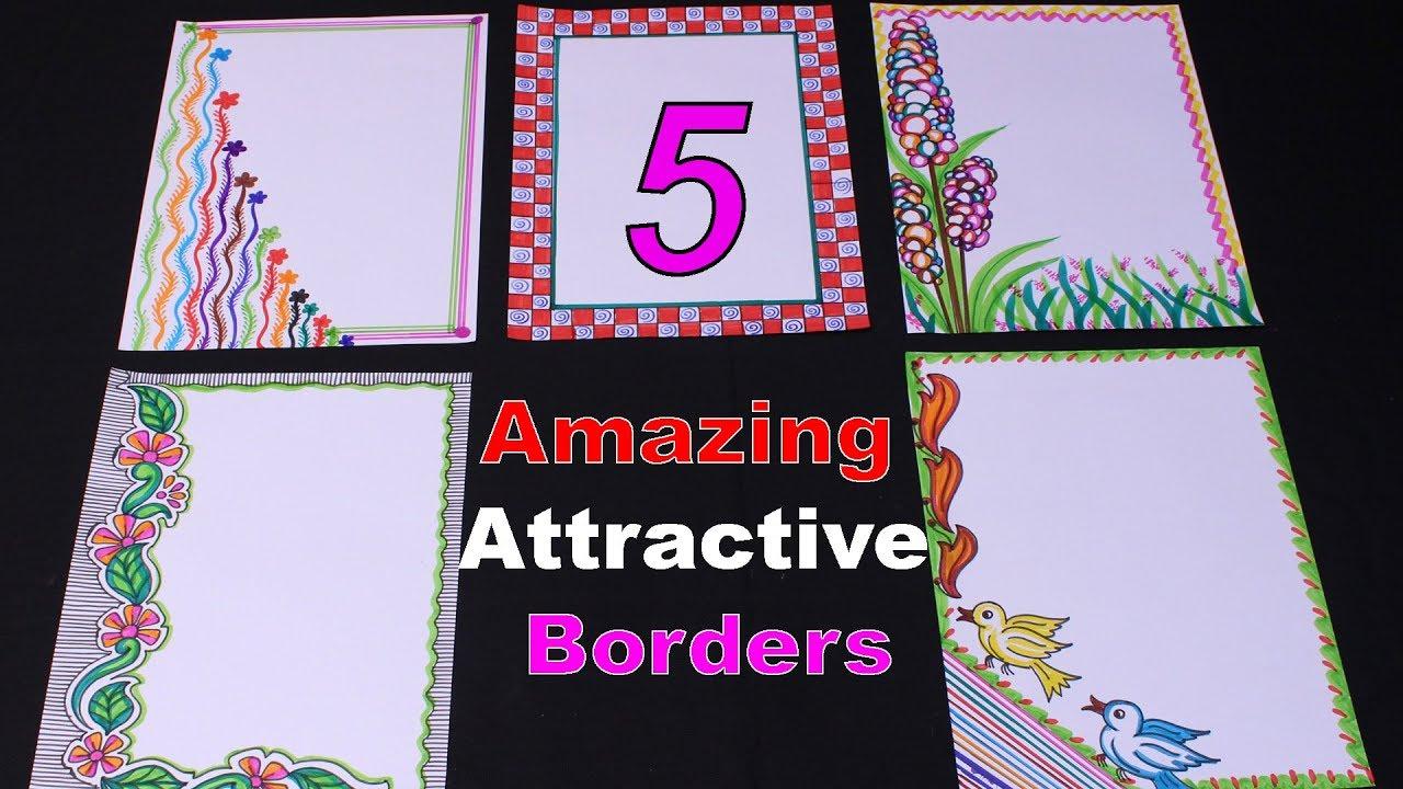 File Decoration Designs: 5 Amazing Attractive Borders