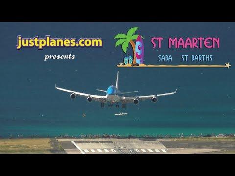 FANTASTIC AIRPORT ACTION : St Maarten ; Saba ; St Barths