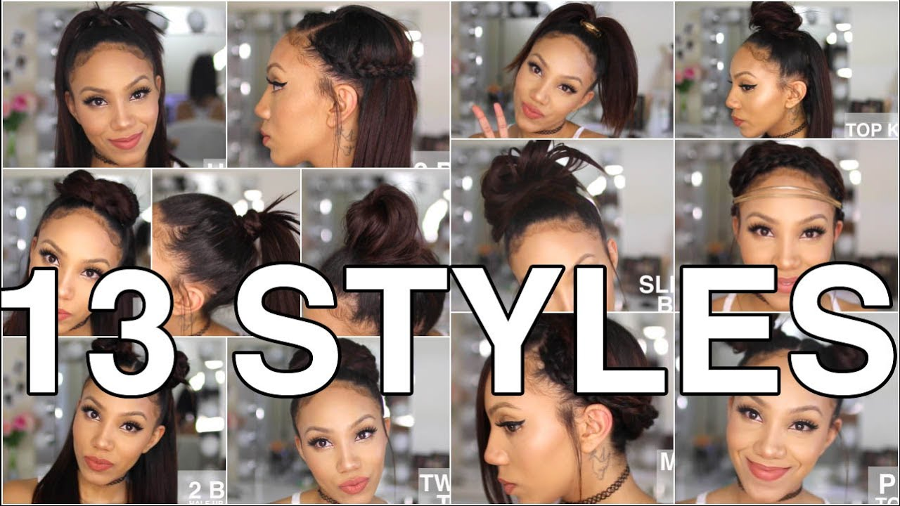 13 Styles For Straight Natural Hair Youtube