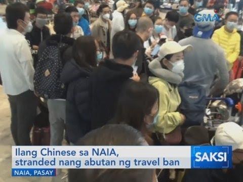 Saksi: Ilang Chinese sa NAIA, stranded nang abutan nang ng travel ban