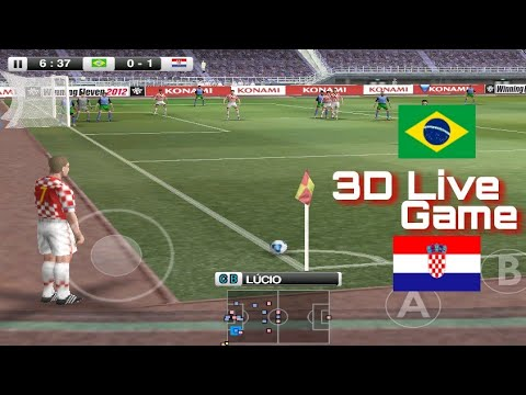 cartoon game Brazil vs Croatia and football live gaming challenge Video