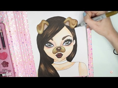 Topmodel Malbuch | How to draw a Snapchat Girl | Gesicht malen | Copics || Foxy Draws