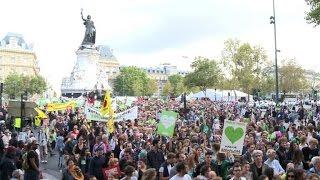 Manifestation à Paris contre le réchauffement climatique