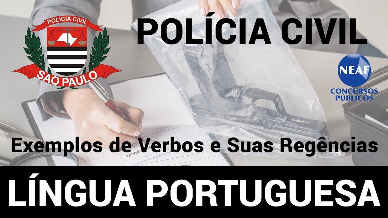 Curso Policia Civil Sp Lingua Portuguesa Exemplos De Verbos E