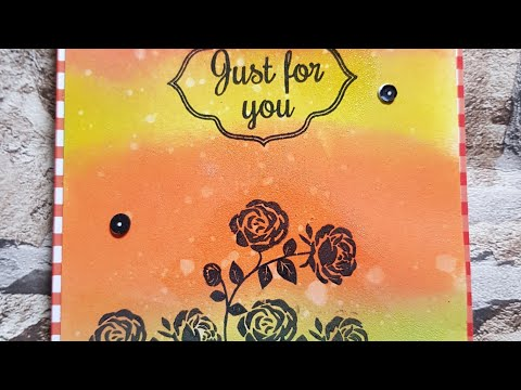 CARDMAKING - INK BLENDED BACKGROUND