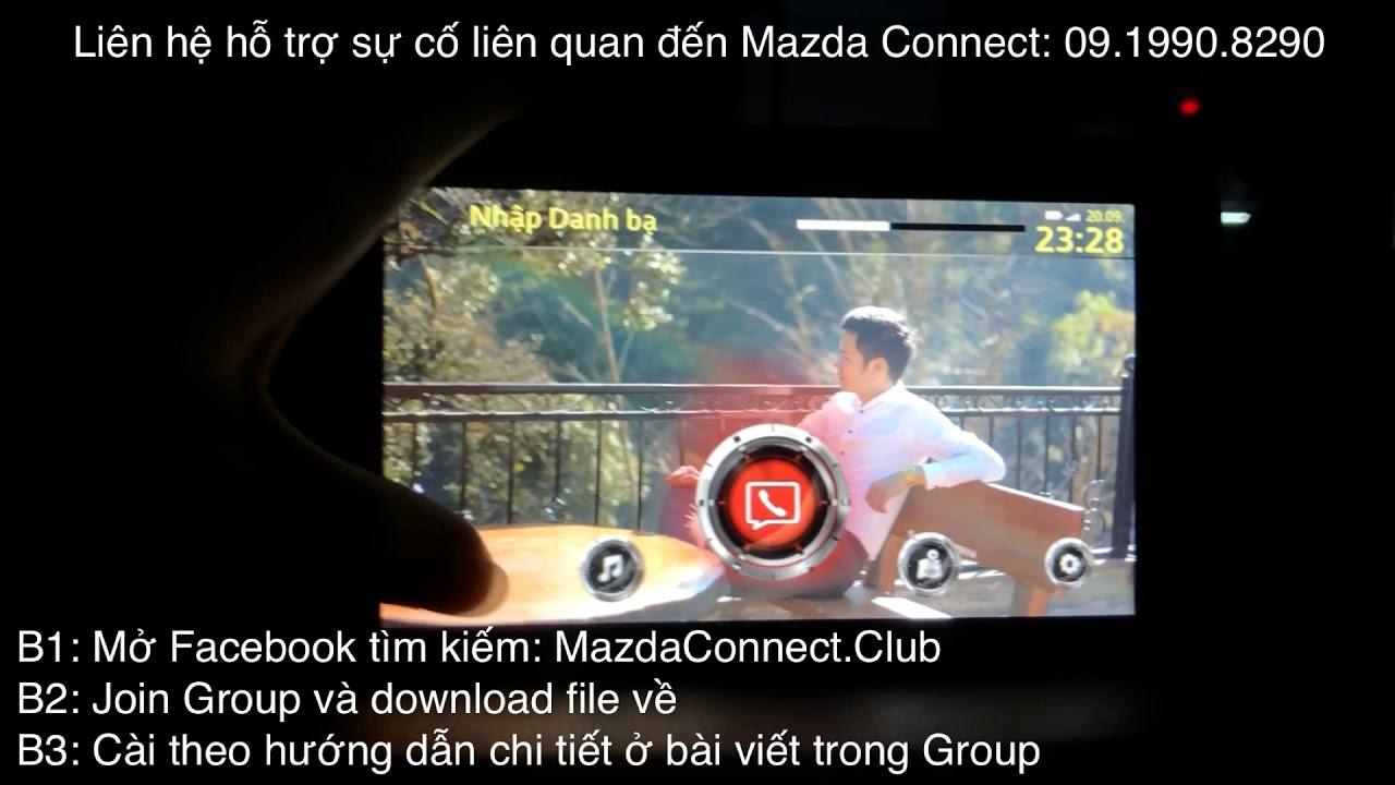 Hướng dẫn cách cài đặt hình nền cho màn hình trên xe ô tô Mazda
