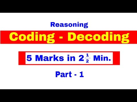 Coding Decoding Reasoning Tricks for Bank PO | Clerk | IPPB PO | SBI PO [ In Hindi] Part -1