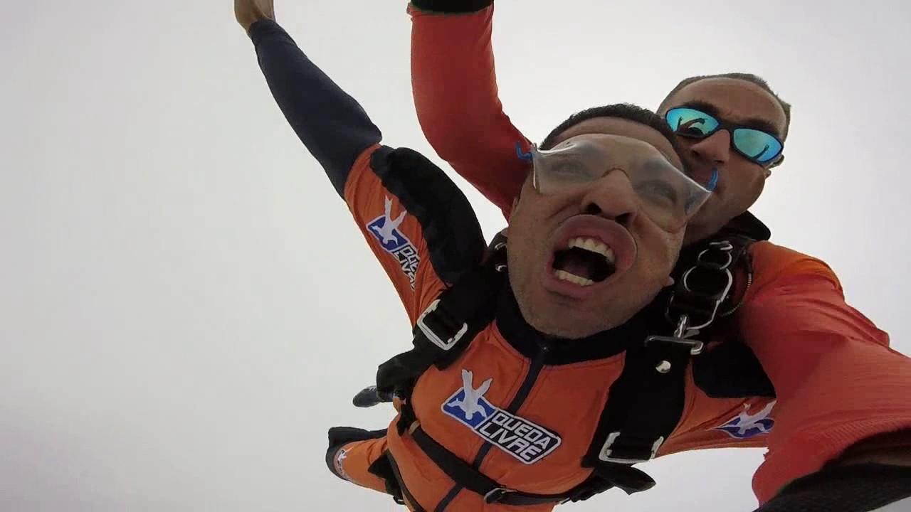 Salto de Paraquedas do Fagner na Queda Livre Paraquedismo 21 01 2017