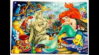 Puzzle The Little Mermaid Disney Princes Ariel Learning Toys Video for Kids
