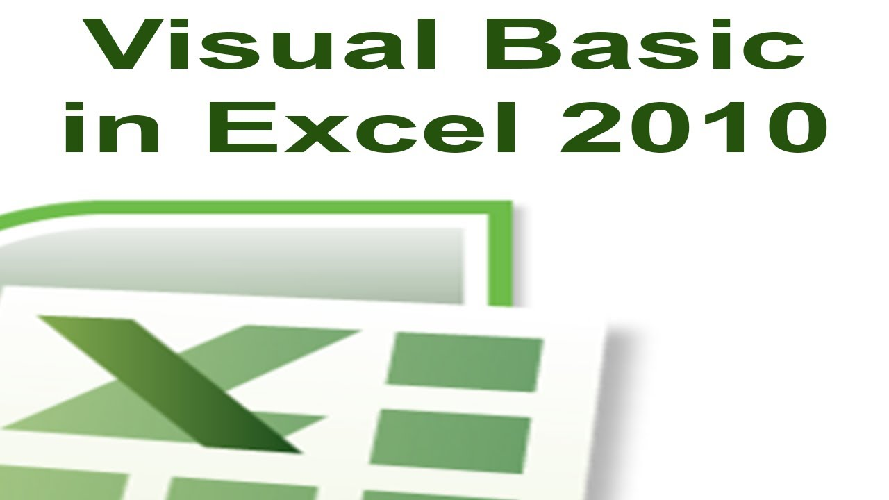 Excel 2010 Vba Tutorial 1  Creating A Macro With Visual Basic For  Applications  Youtube