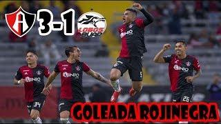 ATLAS 3-1 Lobos BUAP J4 CL19 Liga MX || Resumen, Goles y Análisis