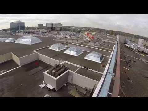 Gopro POV Rope access work @ Pickering Town Center Ontario, CANADA PART 1