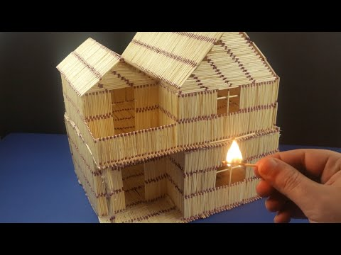 House fire Match chain reaction Domino effect