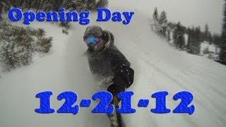 MT. SHASTA SKI PARK OPENING DAY 12-21-12