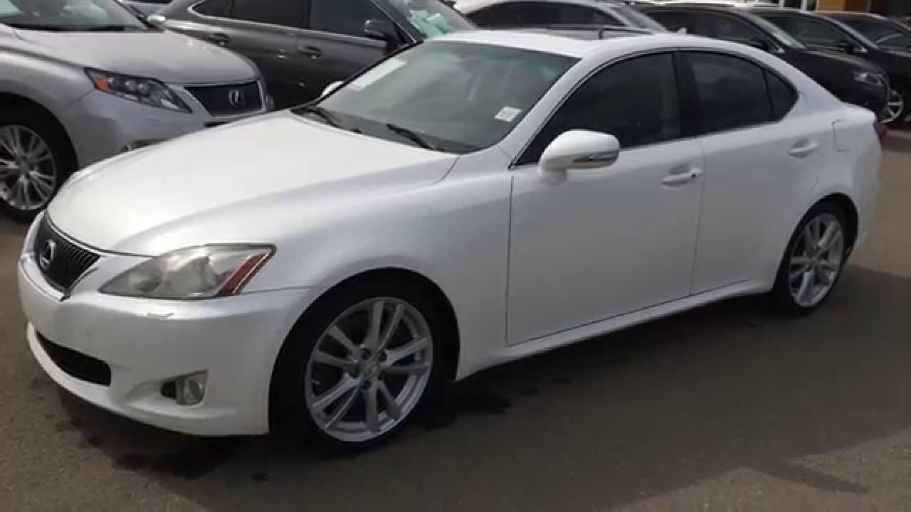 Pre Owned White on Black 2009 Lexus IS 350 RWD - Sport ...