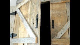 Hide TV above Mantel: Barn door TV cabinet