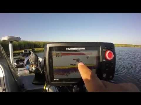 HUMMINBIRD HELIX 5 SI GPS COMBO - summertime bluegill fishing