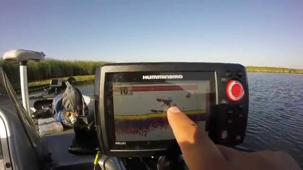 humminbird helix 5 si gps combo - summertime bluegill fishing, Fish Finder