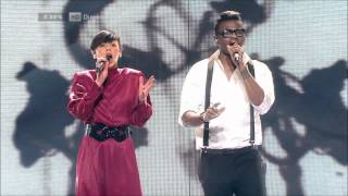 [HD][DK X Factor 2012] Nicoline Simone & Jean Michel - Somersault (I Got You On Tape)- Liveshow 2