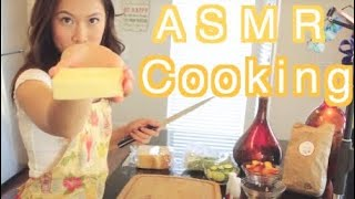 🧀🍑ASMR Let's Make Sandwiches with Blue Apron! 💙💜 #Ad