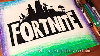 Clean 🔥Fortnite Skin 🔥 Time Lapse - how to draw step by tutorial easy for kids | Mr. Schuette