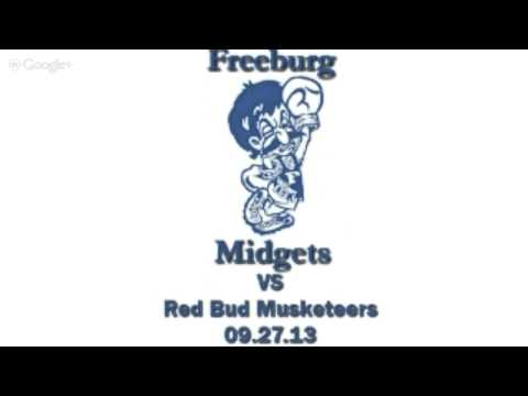 Freeburg Midgets vs the Red Bud Musketeers 09.27.13
