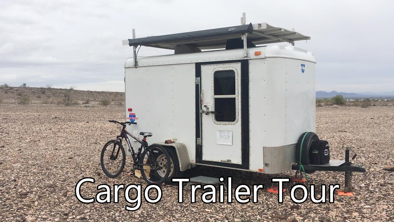 Tour Of My Cargo Trailer Camper Conversion Youtube