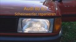 Projekt Audi 80 Teil 4 B3 Scheinwerfer Ausbauen und reparieren