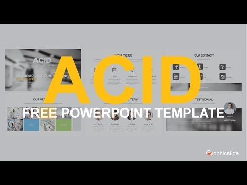 Acid Company Profile - Free PowerPoint Template - YouTube