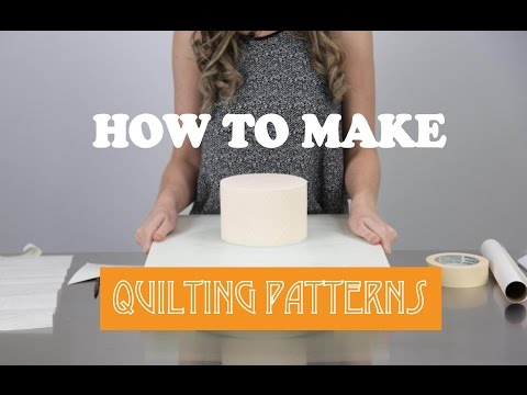 How To Create A Quilting Pattern On A Cake - Cake Craze
