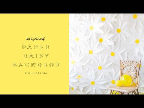 How to make a paper daisy backdrop