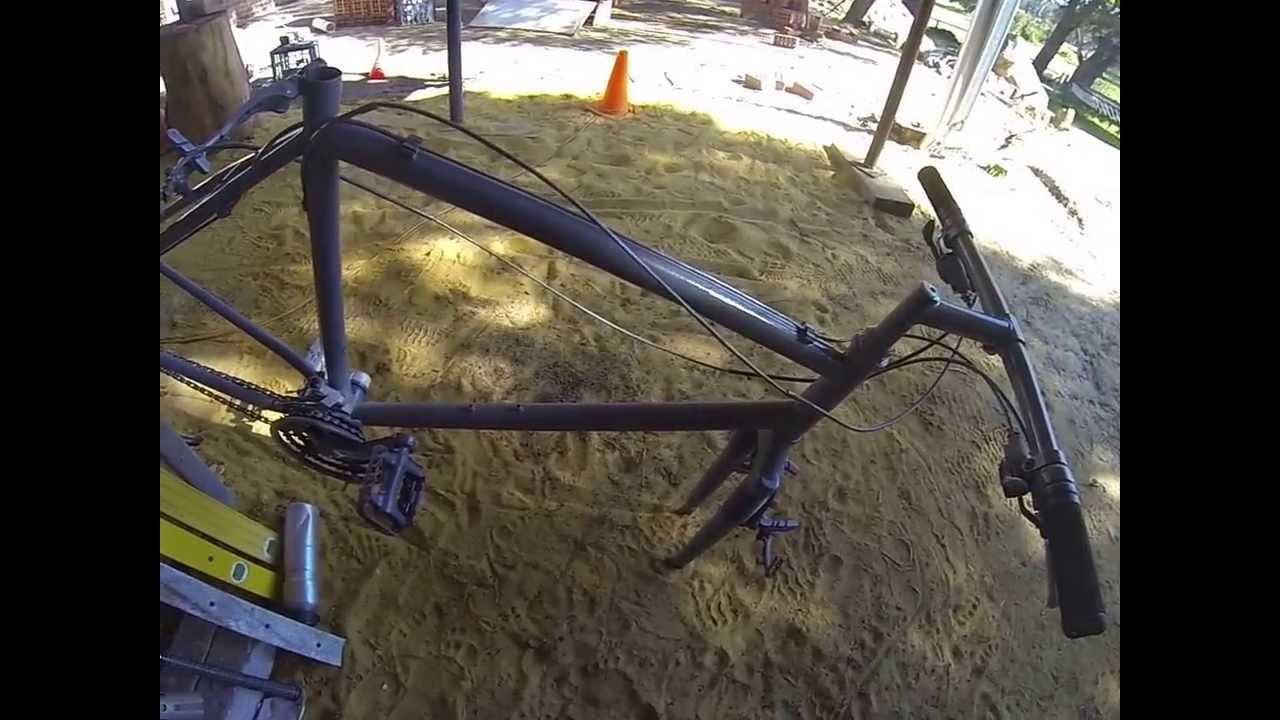 how to draw a mountain bike