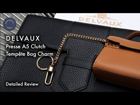 Delvaux Presse A5 & Tempête Bag Charm Detailed Review