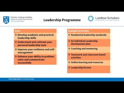 Laidlaw Undergraduate Research and Leadership Programme Briefing 2018