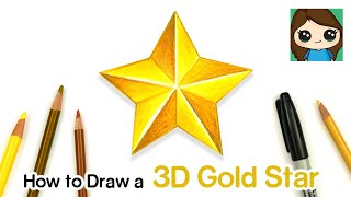 How to Draw a 3D Gold Star