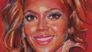 Beyoncé. Oil pastels.