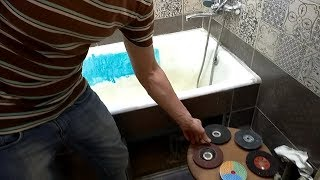 Лучший способ зачистки поверхности эмали ванн. Обзор абразивных материалов!