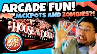 Jackpots and Zombies!? Arcade Fun Run at Dave and Busters! Winning Arcade Ticket Games! TeamCC