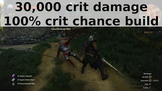 Witcher 3 - 30,000 crit damage, 100% crit chance build
