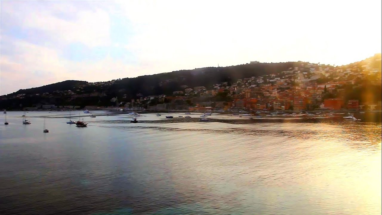 beautiful train ride from monaco to nice french riviera hd funnycat tv. Black Bedroom Furniture Sets. Home Design Ideas