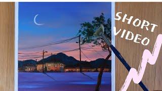 짧은 영상/ 시골저녁/아크릴 그림/Acrylic Pai…
