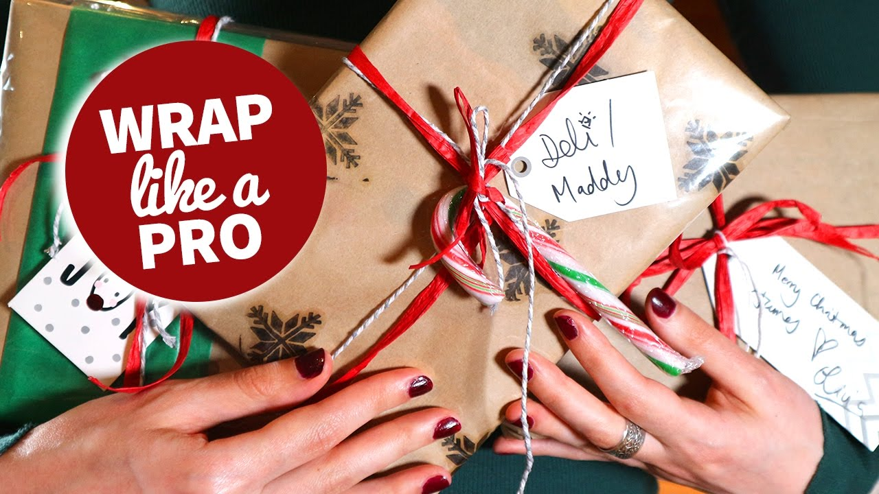 How to wrap christmas gifts like a pro